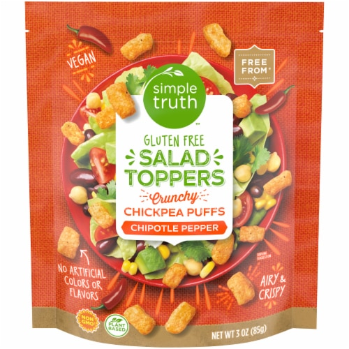 Simple Truth™ Chipotle Pepper Chickpea Puffs Salad Toppers Perspective: front