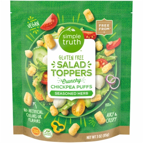 Simple Truth™ Seasoned Herb Chickpea Puffs Salad Toppers Perspective: front