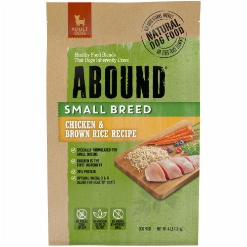 Abound® Small Breed Chicken & Brown Rice Recipe Dry Dog Food Perspective: front