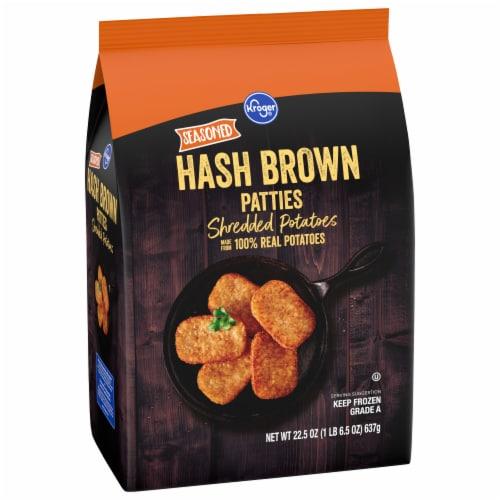 Kroger® Seasoned Hash Brown Shredded Potato Patties Perspective: front