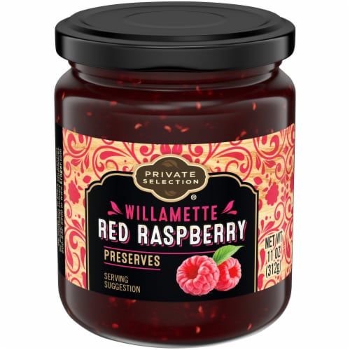 Private Selection® Willamette Red Raspberry Preserves Perspective: front