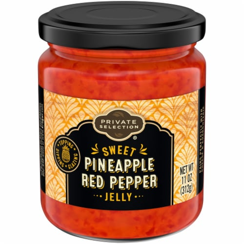 Private Selection® Sweet Pineapple Red Pepper Jelly Perspective: front