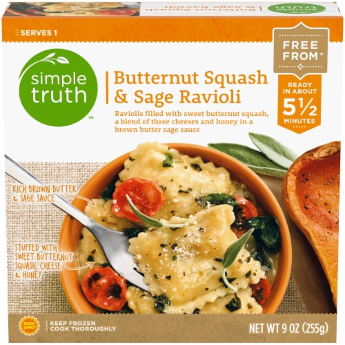 Simple Truth™ Butternut Squash & Sage Ravioli Frozen Meal Perspective: front