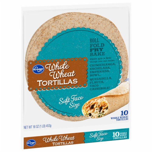 Kroger® Soft Taco Size Whole Wheat Tortillas Perspective: front