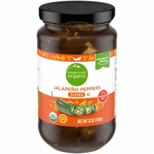 Simple Truth Organic™ Sliced Medium Hot Jalapeno Peppers Perspective: front