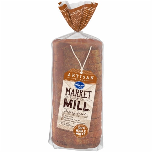 Kroger® Market & Mill™ Artisan Style 100% Whole Wheat Bakery Bread Perspective: front