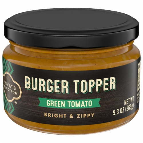 Private Selection® Green Tomato Burger Topper Perspective: front