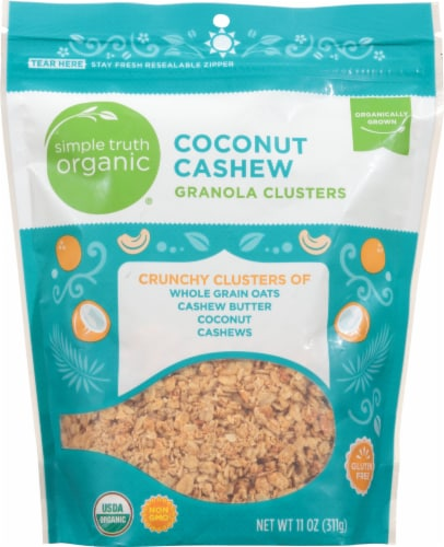 Simple Truth Organic™ Coconut Cashew Granola Clusters Perspective: front