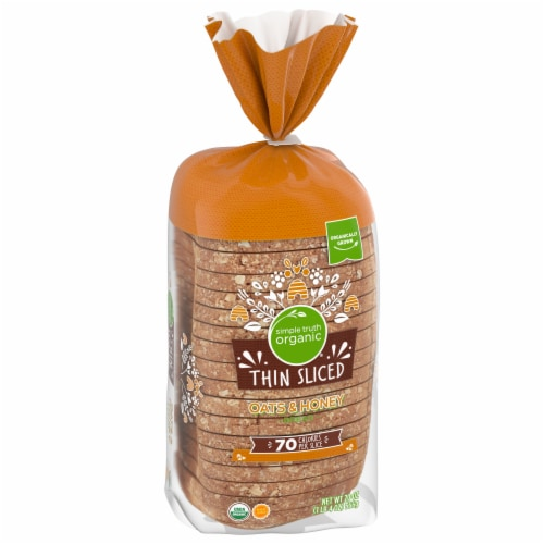 Simple Truth Organic® Oats & Honey Thin Sliced Bread Perspective: front