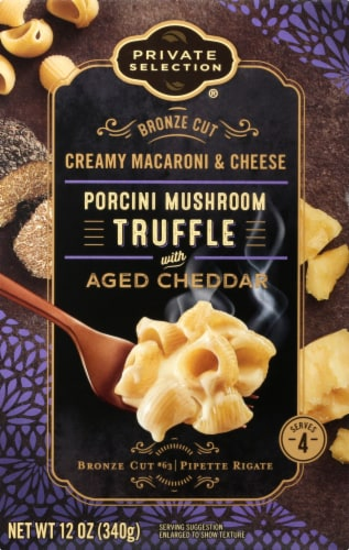 Private Selection® Bronze Cut Porcini Mushroom Truffle with Aged Cheddar Creamy Macaroni & Cheese Perspective: front
