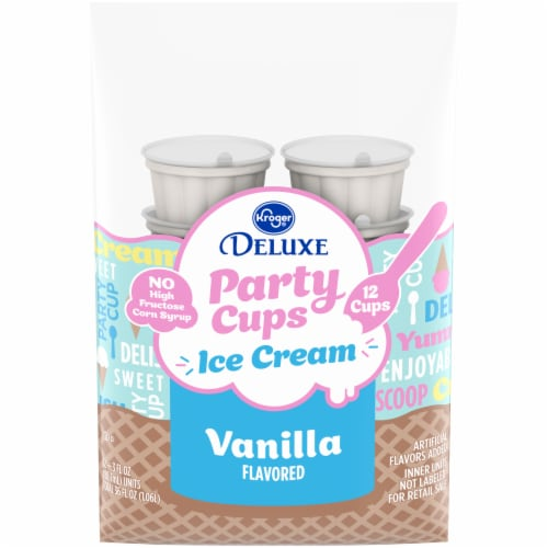 Kroger® Party Cups Vanilla Ice Cream Perspective: front