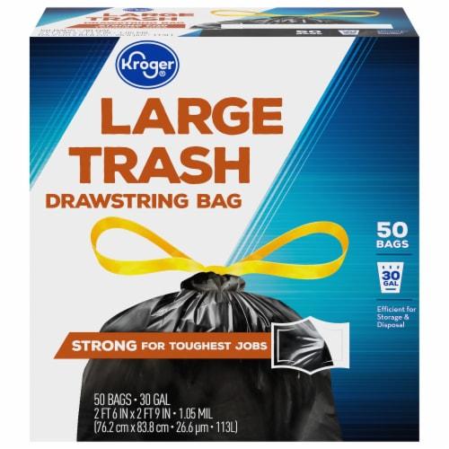 Kroger® Large Drawstring 30 Gallon Trash Bags Perspective: front