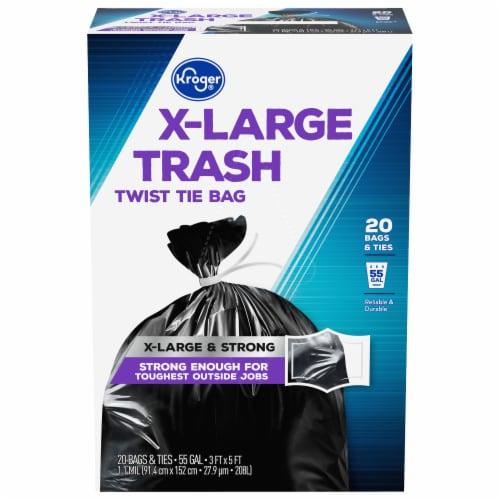 Kroger® X-Large Twist Tie 55 Gallon Trash Bags Perspective: front