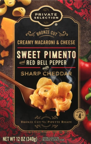 Private Selection® Bronze Cut Sweet Pimento & Red Bell Pepper with Sharp Cheddar Macaroni & Cheese Perspective: front