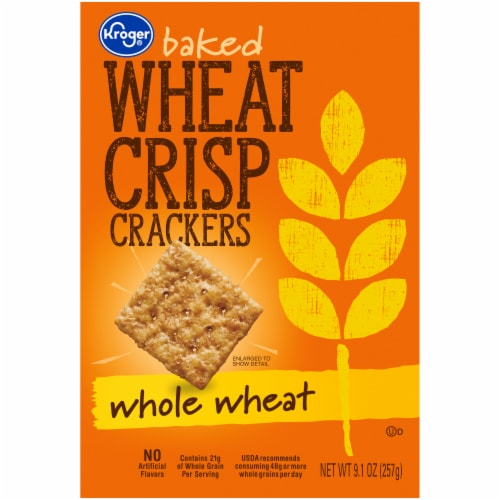 Kroger® Thin Baked Wheat Crisp Crackers Perspective: front