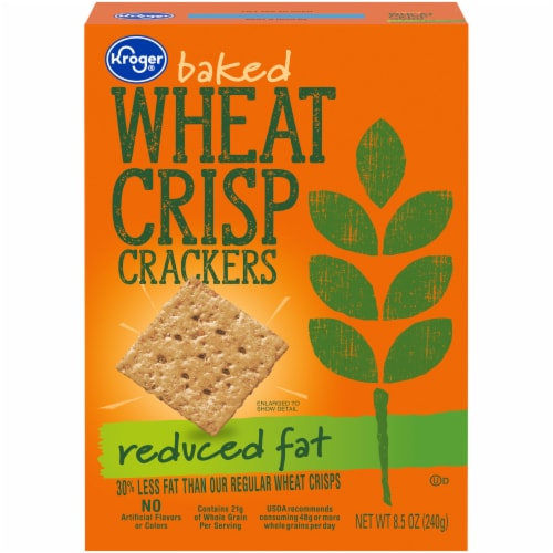 Kroger® Reduced Fat Wheat Crisp Crackers Perspective: front