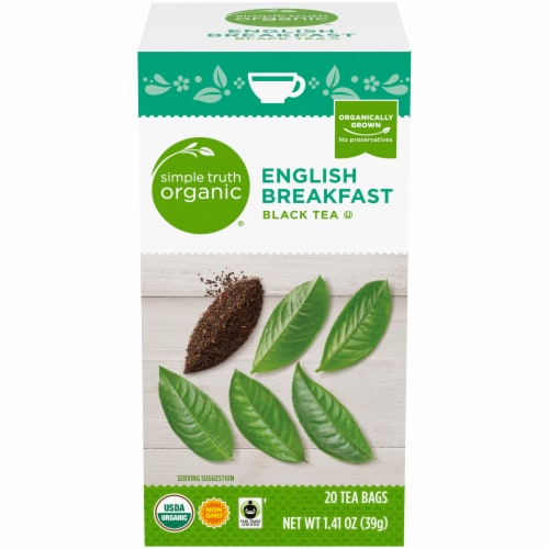 Simple Truth Organic® English Breakfast Black Tea Bags Perspective: front