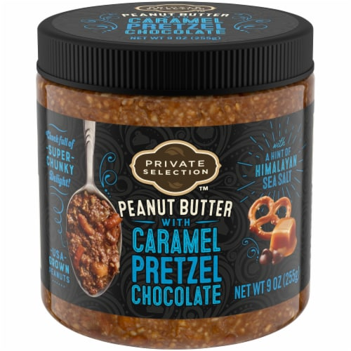 Private Selection Chocolate Pretzel Caramel Nut Butter Perspective: front