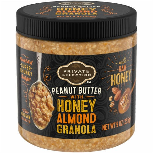 Private Selection Honey Almond Granola Nut Butter Perspective: front