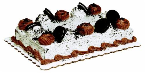 Bakery Fresh Oreo Buttercream Sheet Cake Perspective: front