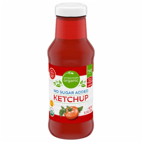 Simple Truth Organic® Gluten Free No Sugar Added Ketchup Perspective: front