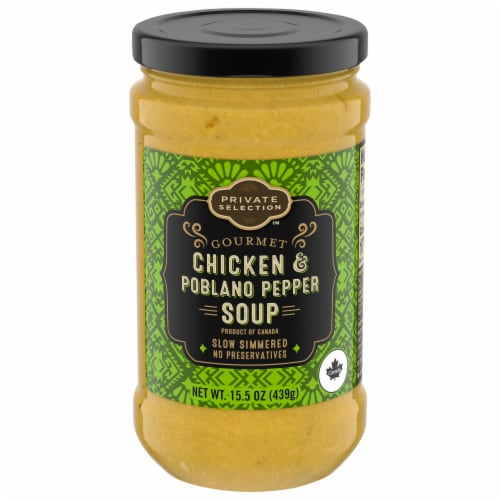 Private Selection™ Gourmet Chicken & Poblano Pepper Soup Perspective: front
