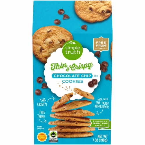 Simple Truth™ Chocolate Chip Thin and Crispy Cookies Perspective: front