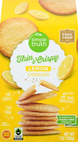 Simple Truth™ Lemon Thin and Crispy Cookies Perspective: front