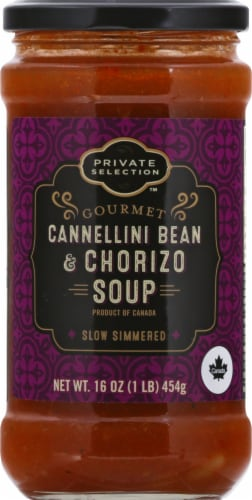 Private Selection™ Gourmet Cannellini Bean & Chorizo Soup Perspective: front