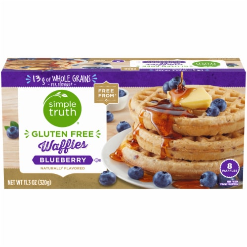 Simple Truth® Gluten Free Blueberry Waffles Perspective: front