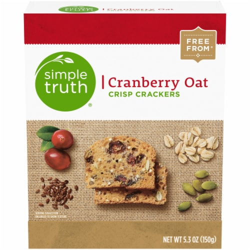Simple Truth® Cranberry Oat Crisp Crackers Perspective: front