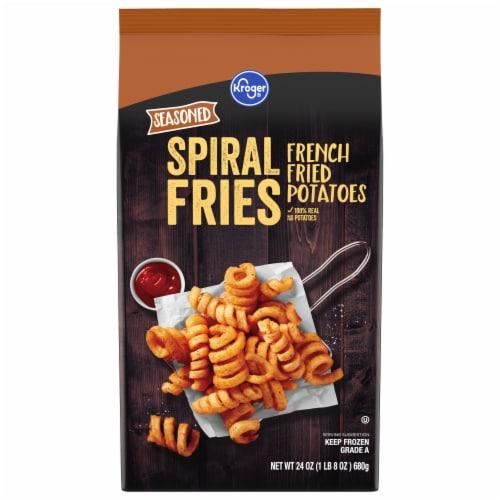 Kroger Seasoned Spiral Fries Perspective: front