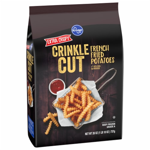 Kroger Extra Crispy Deep Crinkle Cut Fries Perspective: front