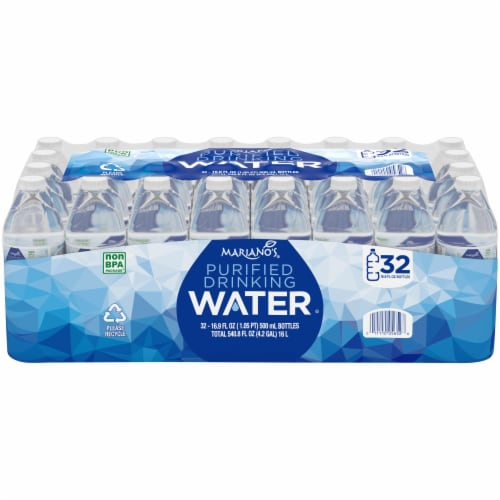 Mariano's® Purified Drinking Water Perspective: front