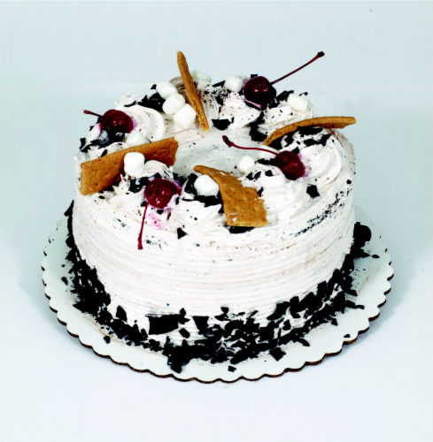 Bakery Fresh Goodness Chocolate Double Layer Cake with White Whipped Icing Perspective: front