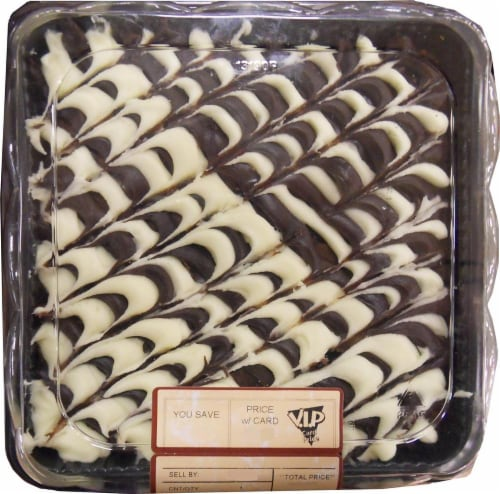 Bakery Cream Cheese Iced 8x8 Brownie Perspective: front