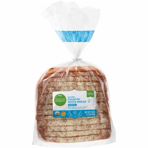 Simple Truth Organic® Rustic Sliced Country White Bread Perspective: front