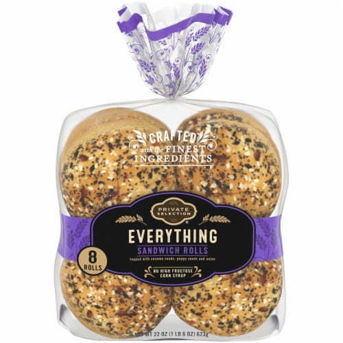 Private Selection® Everything Sandwich Rolls Perspective: front