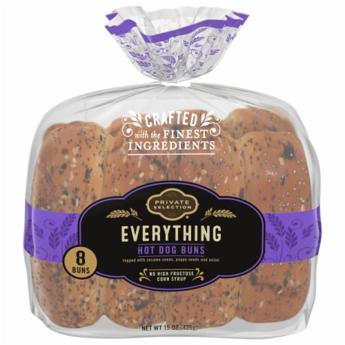Private Selection® Everything Hot Dog Buns Perspective: front