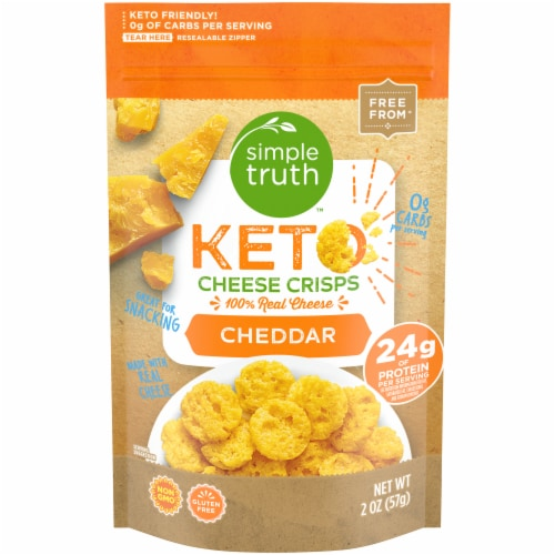Simple Truth™ Gluten Free Keto Cheddar Cheese Crisps Perspective: front