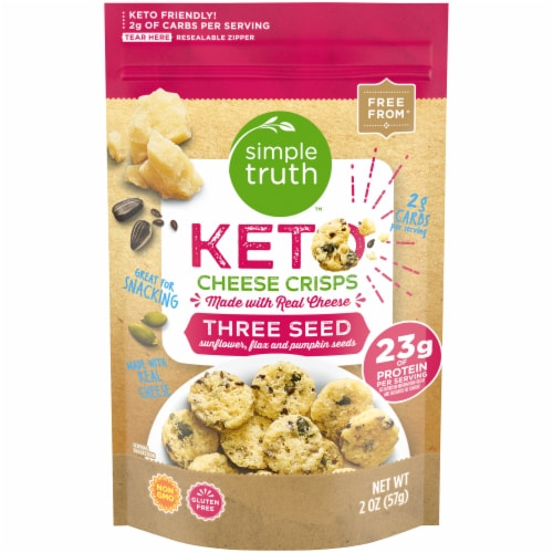 Simple Truth™ Keto Three Seed Cheese Crisps Perspective: front