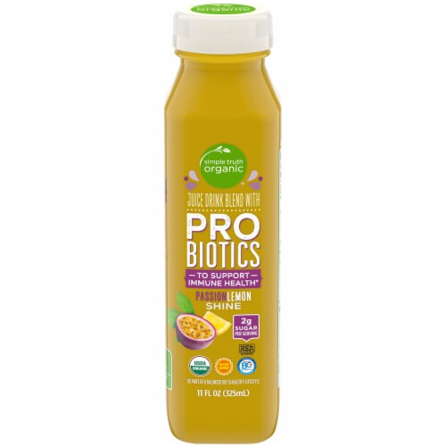Simple Truth Organic® PassionLemon Shine Probiotic Juice Drink Perspective: front
