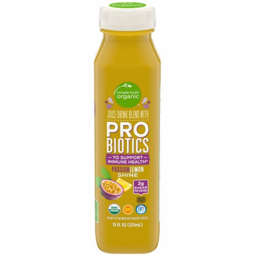 Simple Truth Organic™ PassionLemon Shine Probiotic Juice Drink Perspective: front