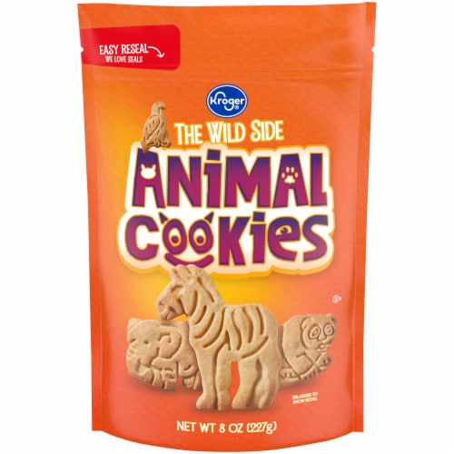 Kroger® The Wild Side Animal Cookies Perspective: front