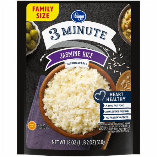 Kroger® 3 Minute Jasmine Rice Perspective: front