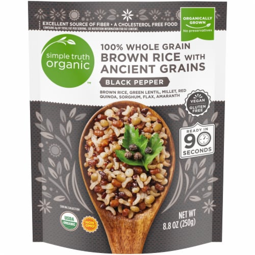 Simple Truth Organic™ Black Pepper 100% Whole Grain Brown Rice with Ancient Grains Perspective: front