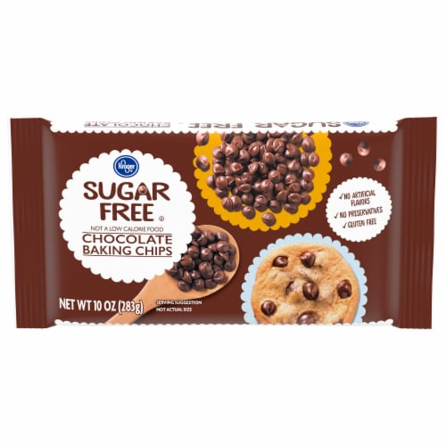 Kroger® Sugar Free Chocolate Baking Chips Perspective: front