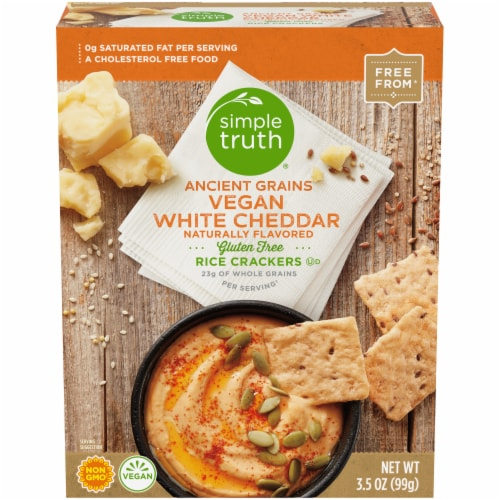 Simple Truth™ Vegan White Cheddar Rice Crackers Perspective: front