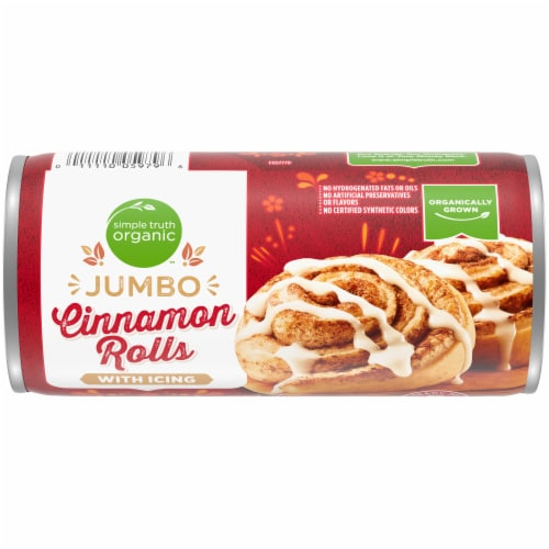 Simple Truth Organic Ready To Bake Jumbo Cinnamon Roll Perspective: front
