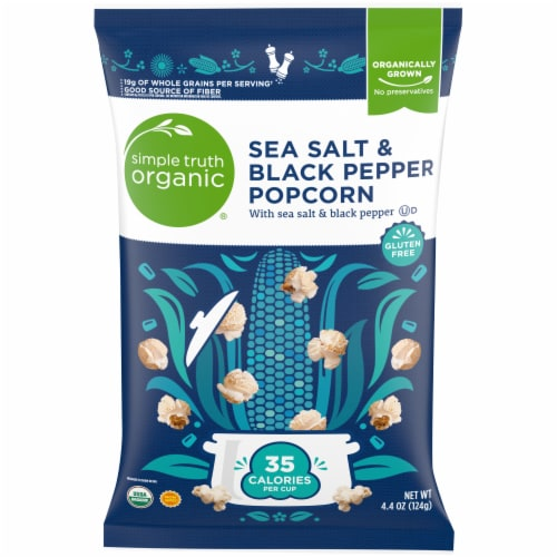 Simple Truth Organic® Sea Salt & Black Pepper Popcorn Perspective: front